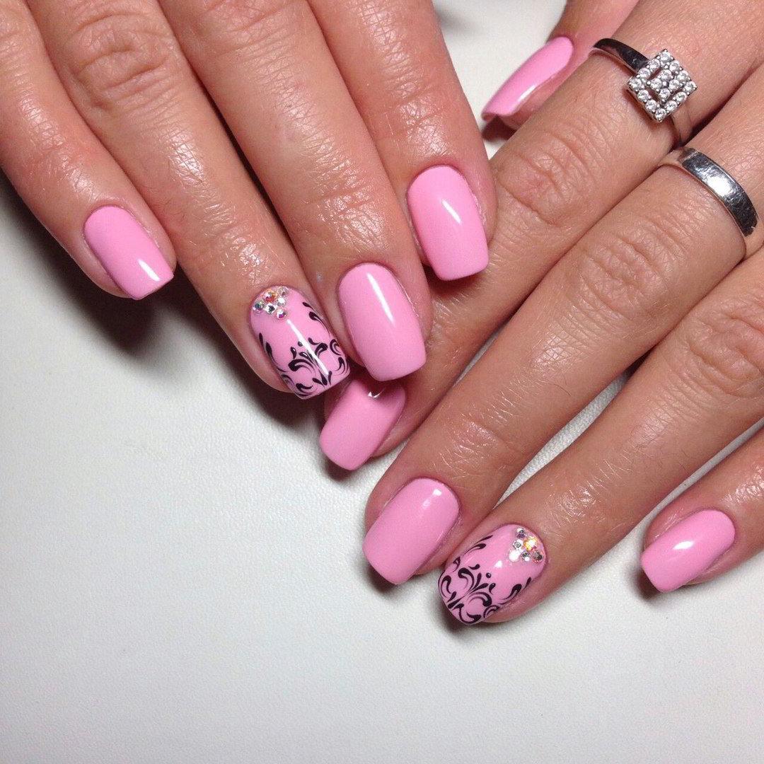 Шеллак С Розовым Лаком Фото